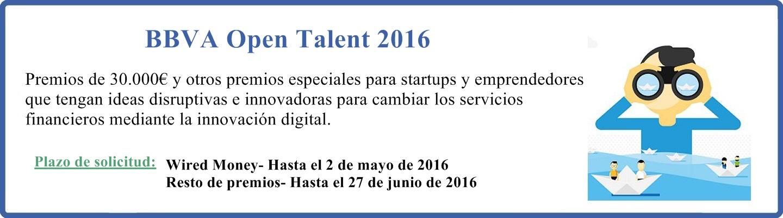 BBVA Open Talent 2016