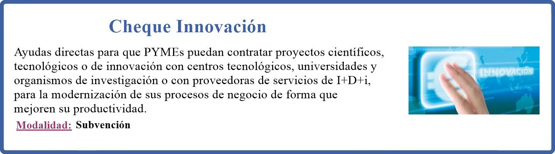 Cheque innovación