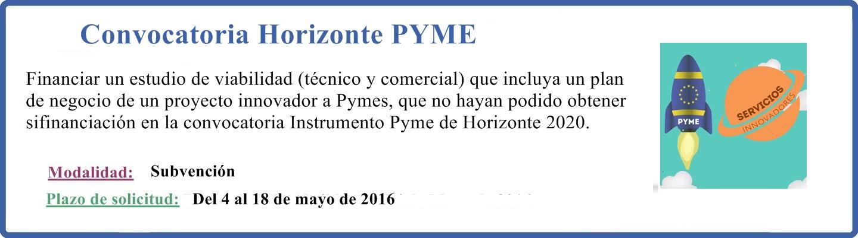 Convocatoria Horizonte PYME